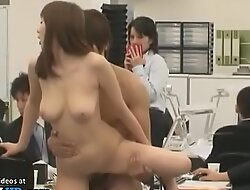 Japanese busty office lady fucked in public