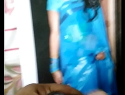 Indian crossdresser got cum tribute