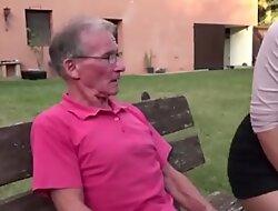 Teen gives grandpa hard erection she is better than a viagra