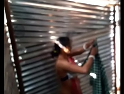Desi girl maid bath in project shed new one.. first upload