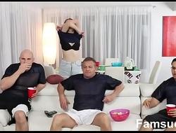 Teens Fucks Pervy Uncle During SuperBowl