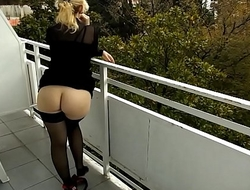 RoseRedRus -Flashing on the Balcony
