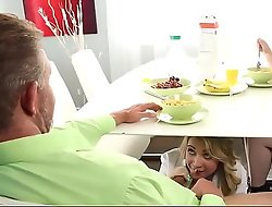 Daddy fucks step daughter every period mommy leaves