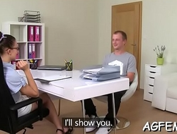 Female agent is obsessed with sex