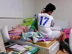 Chinese football player bonks his gf