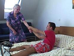 Kirmess old granny is doggy style fucked