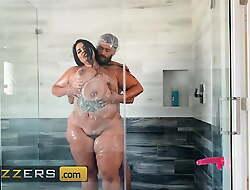 Juicy Brunette Sofia Rose Swallows A Big Cock
