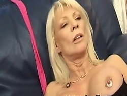 Sex w pierced French of age with rings in nipples added to pussy