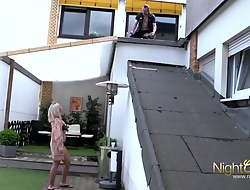 bored housewife fucks worker when her husband is not home